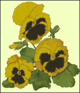 Схема Золотые цветочки