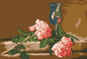 Схема Природа роз / G 668 Natura cu trandafiri