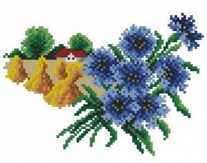 Схема Цветочный календарь. Август