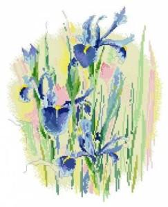 Схема Акварельные ирисы / Watercolours Irises