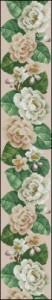 Схема Цветочная панель — Белые розы