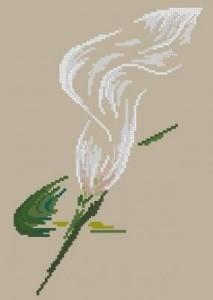 Схема Нежная лилия