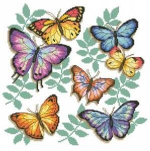 Схема Цветные бабочки