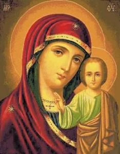 Схема Икона Казанская Богородица