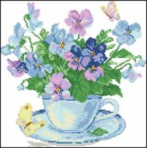Схема Утренние цветы