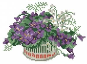 Схема Фиалки / Violets