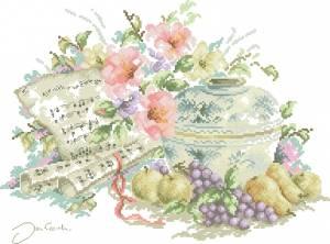 Схема Музыка и цветы