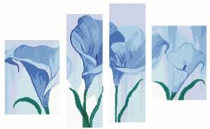 Схема Тетраптих Голубые каллы
