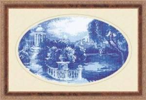 Схема Голубой пейзаж (овал)