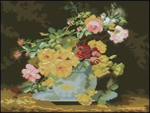 Схема Цветы в вазе