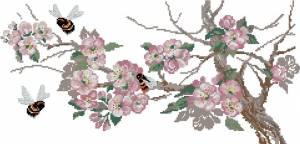 Схема Яблоня в цвету