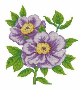 Схема Цветочное панно. Пион