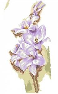 Схема Цветы Голубые гладиолусы / Blue Gladiolus