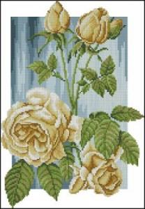 Схема Жёлтые розы