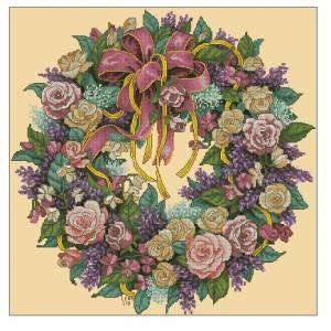 Схема Венок из роз
