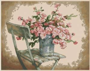 Схема Розы на белом стуле