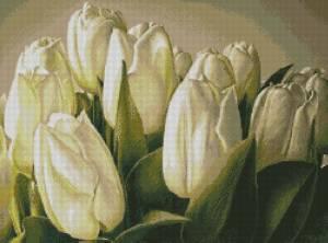 Скачать бесплатно схемы вышивки тюльпанов