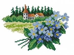 Схема Цветочный календарь. Июнь