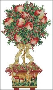 Схема Зимнее дерево, топиар