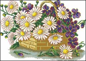 Схема Цветы для мамы