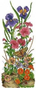 Схема Садовые цветы