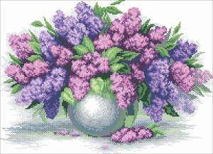 Схема Сирень в вазе
