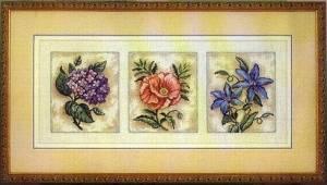 Схема Прекрасное цветочное трио