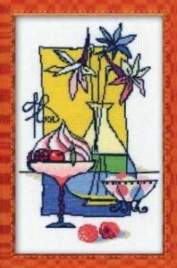 Схема Натюрморт с цветами