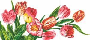 Схема Триптих с тюльпанами