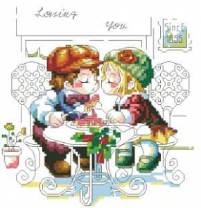 Схема Люблю тебя / Loving you