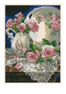 Схема Кружева и розы / Lace аnd roses