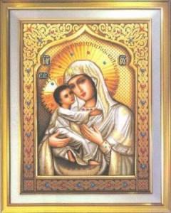 Схема Икона Богородица нежности
