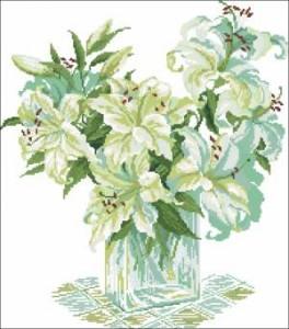 Схема Белые лилии