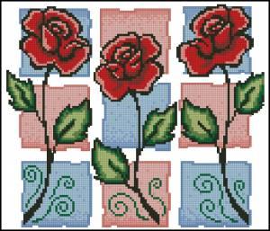 Схема Трио роз