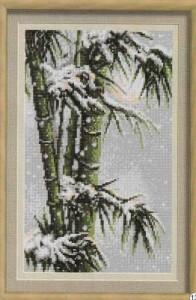 Схема Бамбук в снегу