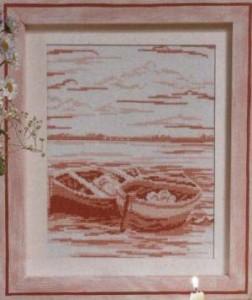 Схема Розовые пейзажи. Лодки