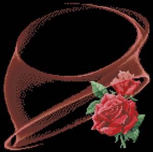 Схема Розы на черном (китайский дизайн)