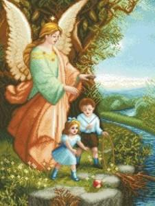 Схема Икона Ангел Хранитель и дети