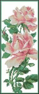 Схема Нежные розы