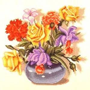 Схема Ваза с цветами / Jarron de Flores