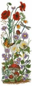 Схема Полевые цветы