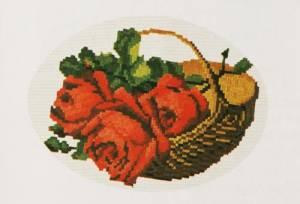 Схема Корзина с красными розами / Wiehler 2613-7 Basket of Red Roses