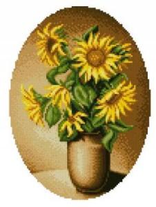 Схема Маленькие подсолнухи / Solaria Sunflowers small
