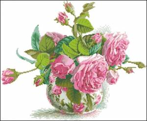 Схемы Романтичные розы