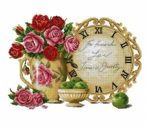 Схема Часы с розами
