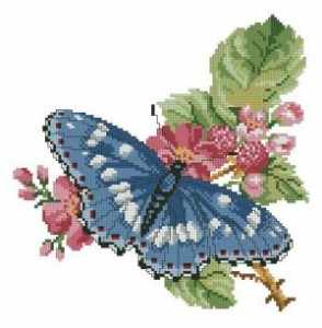 Схема Бабочка на ветке