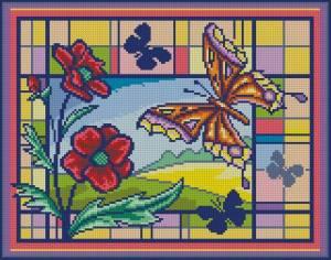Схема Витраж с бабочкой