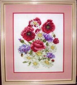Схема Букет полевых цветов