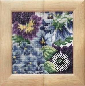 Схема Трио Голубые цветы / Trio Blue