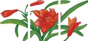 Схема Оранжевые лилии. Триптих